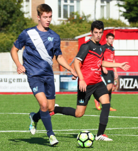 Dan Geal had a very confident game in the centre of the park for Worthing.