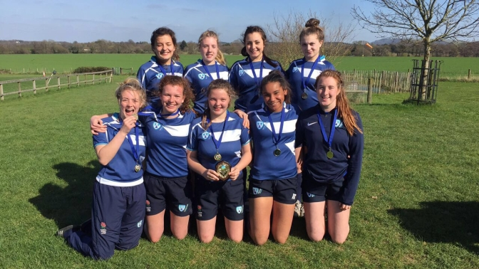 Worthing college girls rugby team win first Sussex Schools 7s